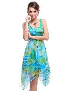 Ever Pretty Women's Floral Printed Empire Beach Summer Dresses/ Casual Dress 03187