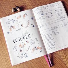 """2,684 Likes, 56 Comments - Roz • Bullet Journal (@rozmakesplans) on Instagram: """"I wanted to post this photo last weekend, but never got around to it. Well, here's my hello october…"""""""