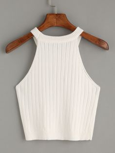 Shop White Knitted Tank Top online. SheIn offers White Knitted Tank Top & more to fit your fashionable needs.