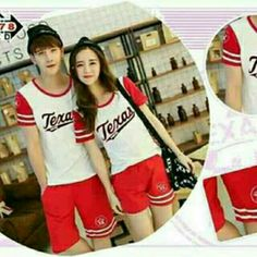B9- 8578 Cp St Texas Red 94.000 Atasan combed + celana babyterry -- Fit to L , Berat 0.50 kg