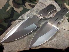 """Hibben Generation 2 Pro Thrower Throwing Knife Set 8 1/4"""" Trigger Grip - 2007"""