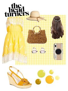 """""""A Little Bit of Sun"""" by fluffyflavi on Polyvore featuring Christophe Sauvat, Anne Klein, Cappelli Straworld, ASOS and Kate Spade"""