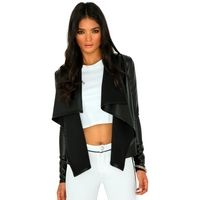 Mallorie Leather Waterfall Jacket £24.99  #Waterfall #Jacket #Missguided
