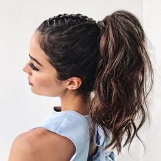 30 Cute easy Braided Hairstyles tutorials for Short Hair Are you looking for some braided hairstyles for short hair for long hair medium hair that are easy to do? We have picked the cutest and trendiest looks for you Braided Ponytail Hairstyles, Cool Braid Hairstyles, Ponytail Styles, Fast Hairstyles, Braided Hairstyles Tutorials, Braid Styles, Braid Ponytail, Mohawk Braid, Hairstyle Ideas