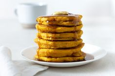 Pumpkin pancakes are a great, quick and easy fall breakfast recipe. These pancakes are light and fluffy, and the buttermilk helps make them extra moist and d. Fruit Christmas Tree, Christmas Pretzels, Baked Plantain Chips, French Coconut Pie, Bangers And Mash, Fall Breakfast, Pumpkin Pancakes, Best Pumpkin, Tasty Kitchen