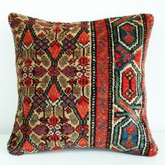 Persian Rug Pillows. I have these in my bedroom. Love em!