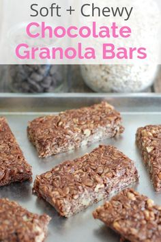 Customize your own granola bars with this recipe! From raisins and peanuts to dried cranberries or M&M's, there's no limit to the flavors you can create. Add up to 1 cup of additional mix-ins when you mix the dry ingredients together. Easy Snacks, Healthy Snacks, Healthy Kids, Healthy Living, Healthy Recipes, Homemade Chocolate, Chocolate Recipes, Cookie And Cream Cupcakes, Snack Recipes
