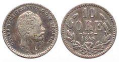 SCHWEDEN 10 Ore 1855 G OSCAR I. Silber # 71604