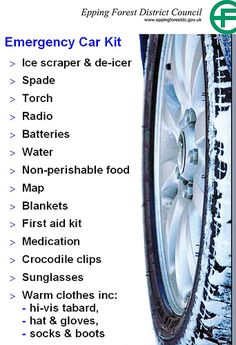 Get ready for winter - Emergency car kit poster