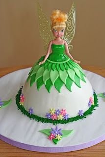 Tinkerbell...my first doll cake