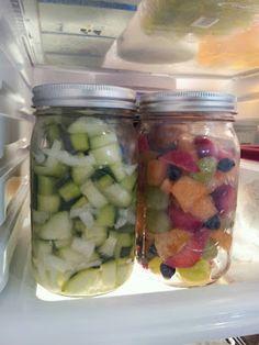 Fruit salad in mason jars