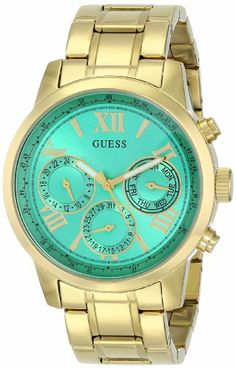 Effortlessly classic with an all-new flash of color, this gold-tone timepiece is topping our must-have list. The bold green dial makes a tot...