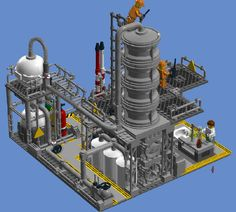 Custom LEGO Chemical Plant