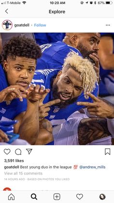My Giants, New York Giants, Sterling Shepard, Odell Beckham Jr, Nfl Season, Open Minded, Wavy Hairstyles, Baby Daddy, Man Crush
