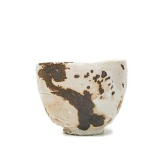 Ryoji Koie (Japanese: 1938) - Stoneware, shino glaze, red stain, woodfired