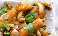 <p>The spice blend provides a depth of flavor that compliments the sweetness from the roasted onions and carrots. But it's The crunch and salt from the pistachios that tie this dish together and makes it truly special. </p>