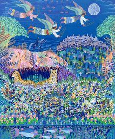 Esben Hanefelt Kristensen - Englefyrsternes fred 150 x 120 cm