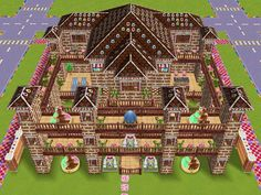House 94 Candy Kingdom full view #sims #simsfreeplay #simshousedesign