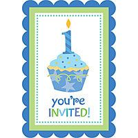 Sweet Cupcake Boy's 1st Birthday Party Supplies - Party City