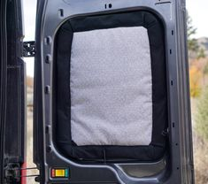 Curtains work for houses, but we think insulated window covers are better for campervans! They are lightproof and keep us warm in winter, fresh in summer. Van Conversion Curtains, Van Conversion Insulation, Camper Van Conversion Diy, Sprinter Conversion, Transit Camper, Ford Transit, Camper Windows, Rv Curtains, Astro Van