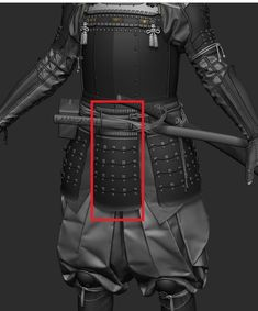 Inspired by all the samurai themed games during (especially Sekiro) i decided to make my own. Samurai Concept, Concept Weapons, Armor Concept, Samurai Armor Diy, Game Character, Character Design, Ancient Armor, Oni Mask, Futuristic Armour