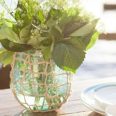 Perfect vase for outdoor summer settings. Click through to see more from this collection.