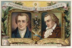 Goethe en Schiller uitgave van Liebig vleesextract