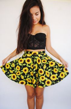 heyyjessie_10's save of Sunflower Skirt on Wanelo