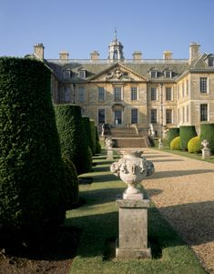 Belton House, Belton, Grantham, Lincs. Grade I listed country house. Surrounded by formal gardens & a series of avenues leading to follies within a larger wooded park.
