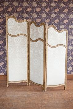 Antique Three Fold Dressing Screen