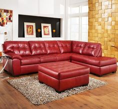 Soho Red Sectional Sofas Dallas Photo This Photo was uploaded