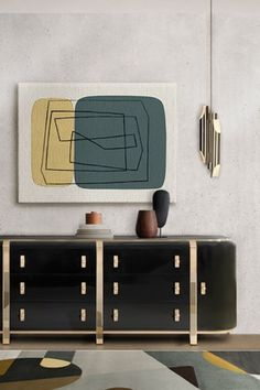 Inspired by the monumental and monolithic style of Louis Kahn, this is a sideboard by Essential Home will bring a strong presence to your living or dining room with its dark and mature look. A perfect piece for any luxury interior, Kahn surprises with a gorgeous high gloss varnish over black lacquered wood.