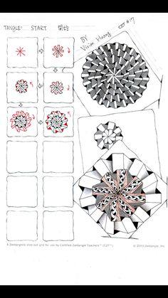 Start ~ Zentangle #tangle by Vivian Huang #CertifiedZentangleTeacher