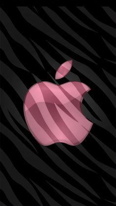 Pink Apple on Black Wallpaper