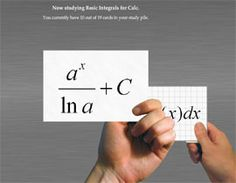 AP Calculus flash cards for the math geek