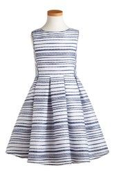 Pippa & Julie Stitch Stripe Sleeveless Dress (Big Girls)