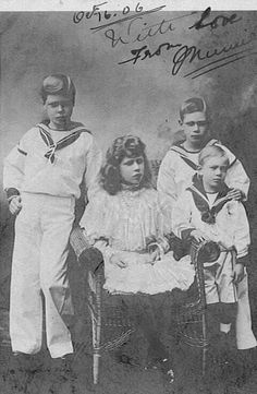 Four of King George V's children--Prince Edward,Princess Mary, Prince Albeert and Prince Henry.