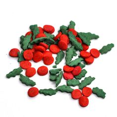 Holly Berries Green Red Confetti Christmas Sprinkles for Topping Bath Bombs Vegan Cruelty Free Dissolvable Decorations Soap Topper Supplies Holly Berries, Red Berries, Christmas Cupcakes Decoration, Marshmallow Snowman, Reindeer Head, Christmas Sprinkles, Bomb Making, Bath Bomb Molds, Kraft Bag