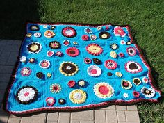 Ravelry: Project Gallery for Garden State Afghan pattern by Julie Yeager
