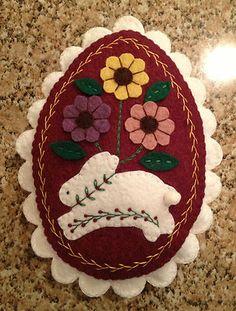 Wool Felt Large Easter Egg Bowl Filler