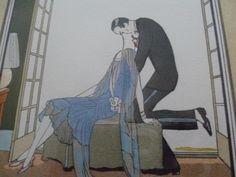 Ettore Tito (1859-1941), Ensemble De Trois Lithographies, Pochoirs Art Déco, Aatos Antiquités, Proantic Lampe Art Deco, Display, Stencils, Art Deco, Floor Space, Billboard
