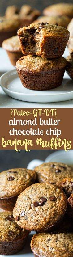 These Paleo almond butter banana muffins are easy to make, kid friendly, and have the perfect texture and flavor. Gluten free, grain free, dairy free.