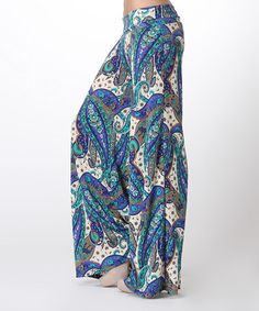 Look what I found on #zulily! Blue Paisley Palazzo Pants by BOLD & BEAUTIFUL #zulilyfinds