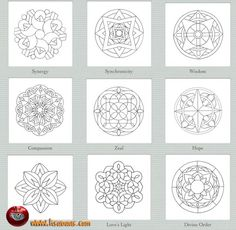Collection of different kinds of Mandalas