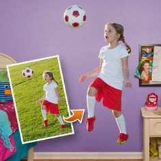 Gift Ideas - Wall Graphics, Big Heads and Cut Out Graphics, use a favorite softball picture...