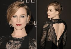 The Best Haircuts for Your Square-Shaped Face: Evan Rachel Wood's Funky Short Cut