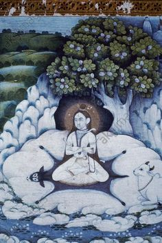 Shiva als Herr der Yogis. Pahari, c.1750