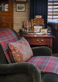 Velvet club chair - Ralph Lauren? Sure looks like it.