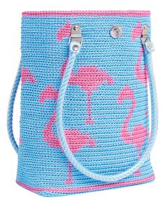 Flamingo Blue - super crochet bag :)