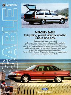 1987 Mercury Sable Ad (Canada)   Explore aldenjewell's photo ...